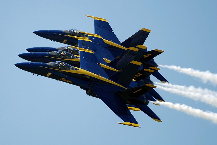 aircraft, military, navy, vehicles, blue angels, F-18 Hornet - desktop wallpaper