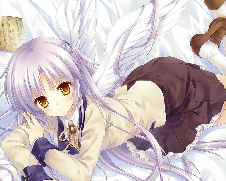 wings, Angel Beats!, Tachibana Kanade, anime - desktop wallpaper