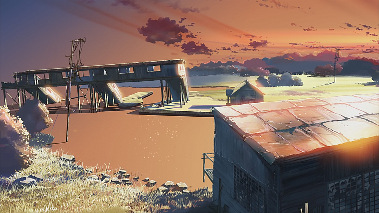Makoto Shinkai, anime, The Place Promised in Our Early Days - desktop wallpaper