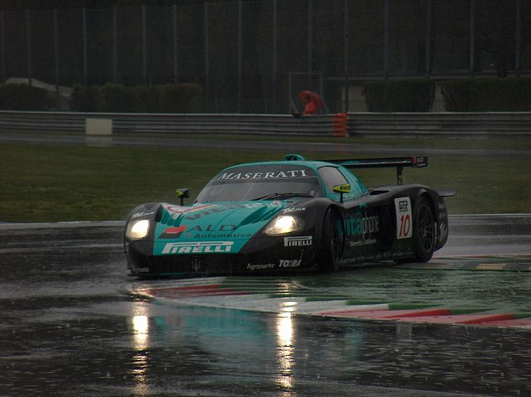 rain, cars, Maserati, vehicles, Maserati MC12 Corsa, race tracks - desktop wallpaper