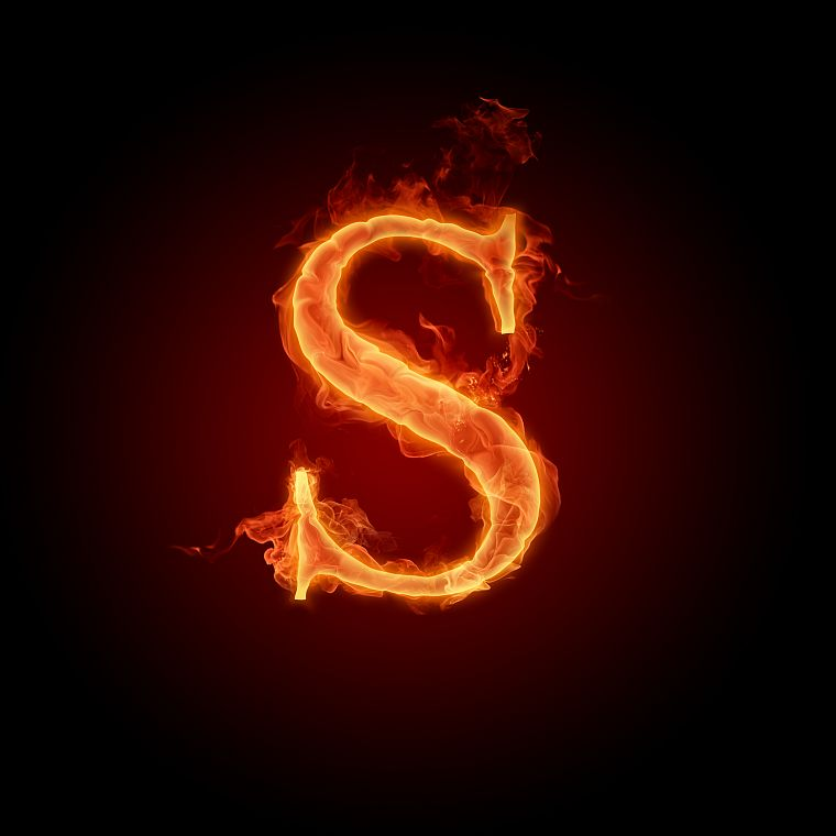 flames, fire, typography, alphabet, letters - desktop wallpaper