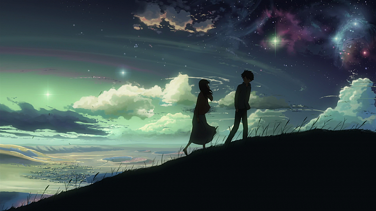 Makoto Shinkai, 5 Centimeters Per Second, skyscapes - desktop wallpaper