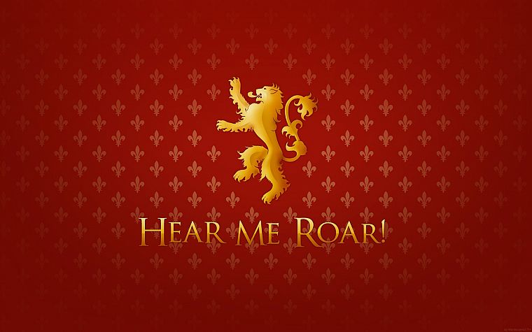 Game of Thrones, A Song of Ice and Fire, lions, TV series, House Lannister, Hear Me Roar - desktop wallpaper