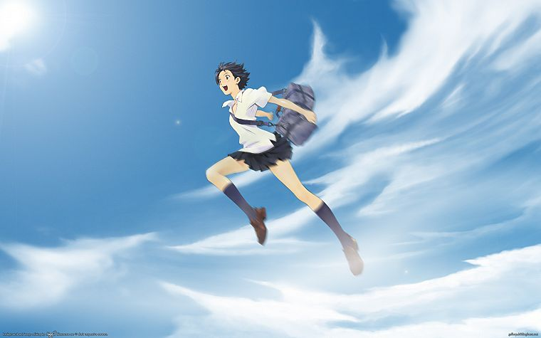 school uniforms, The Girl Who Leapt Through Time, Konno Makoto - desktop wallpaper