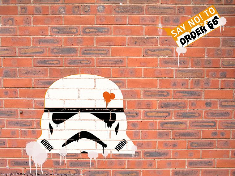 Star Wars, stormtroopers, bricks, brick wall - desktop wallpaper