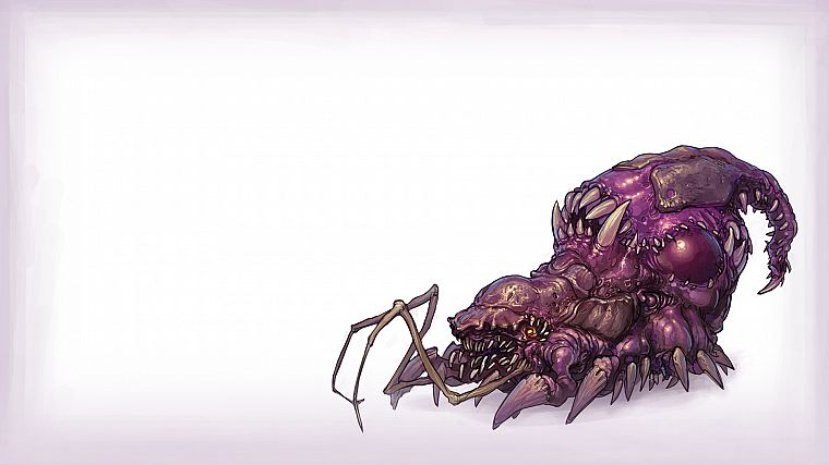 video games, Zerg, artwork, StarCraft II, simple background - desktop wallpaper