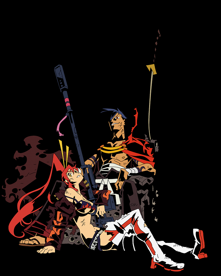 Kamina, Tengen Toppa Gurren Lagann, transparent, Littner Yoko, anime vectors - desktop wallpaper