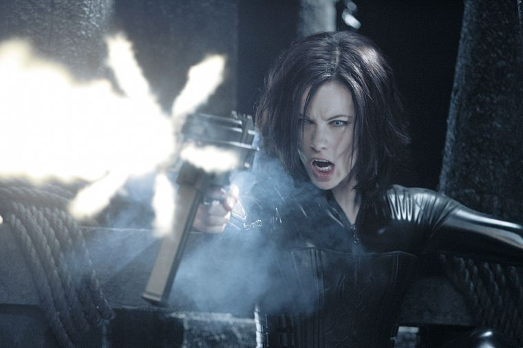 latex, Kate Beckinsale, Underworld, evolution, girls with guns - desktop wallpaper