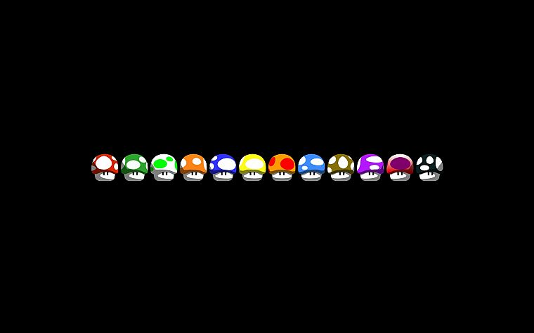 Nintendo, Mario, black background - desktop wallpaper