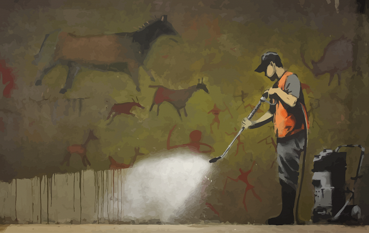 streets, graffiti, Banksy - desktop wallpaper