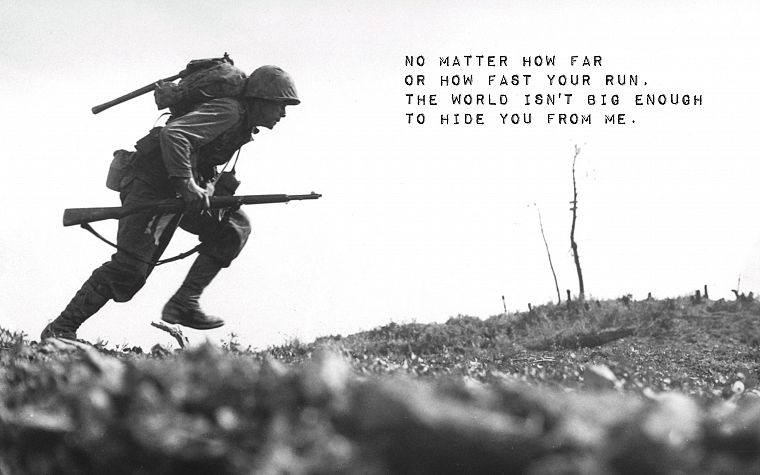 soldiers, death, quotes, grayscale, World War II - desktop wallpaper