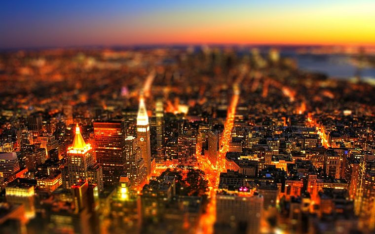 cityscapes, tilt-shift - desktop wallpaper