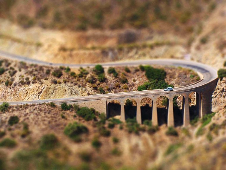 landscapes, tilt-shift - desktop wallpaper