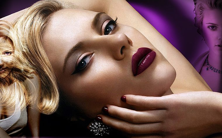 women, Scarlett Johansson, actress, models, celebrity, faces - desktop wallpaper