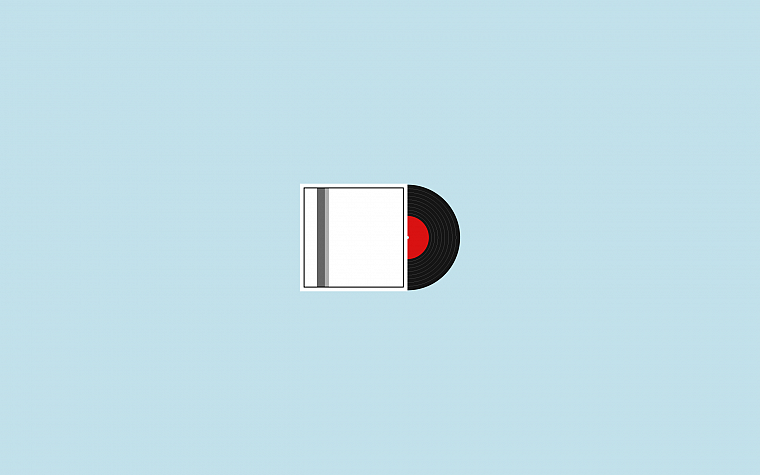 minimalistic, vinyl - desktop wallpaper