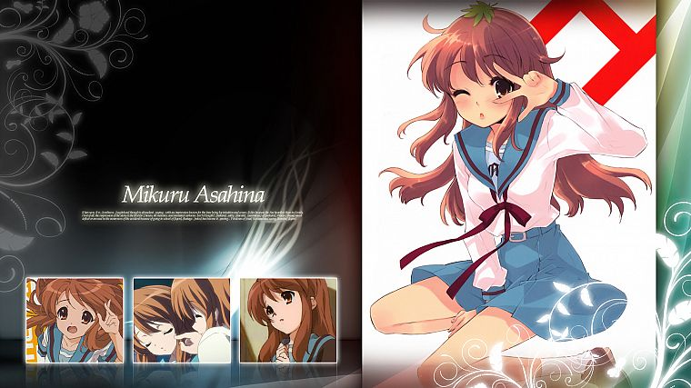 Asahina Mikuru, The Melancholy of Haruhi Suzumiya, anime girls - desktop wallpaper