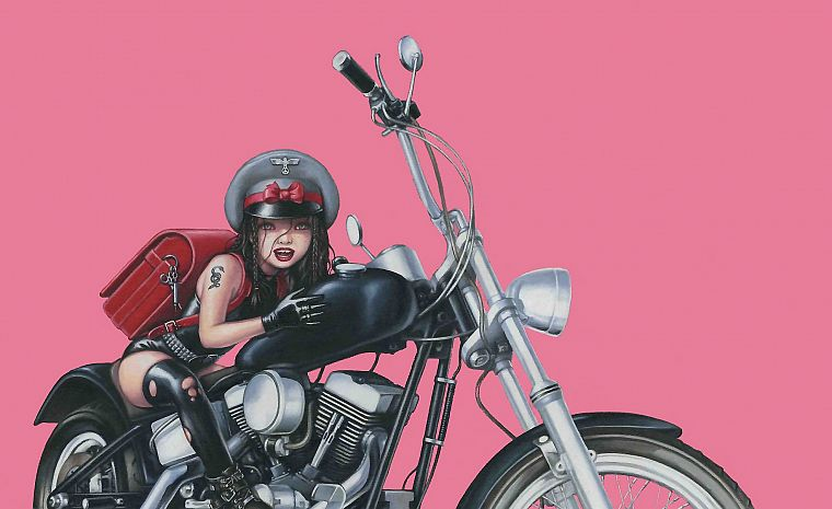 tattoos, biker, artwork, motorbikes - desktop wallpaper