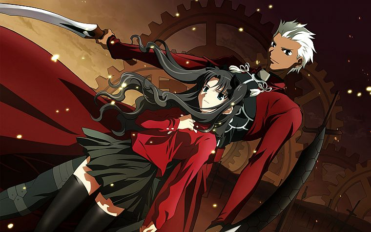 Fate/Stay Night, Tohsaka Rin, Type-Moon, Archer (Fate/Stay Night), Fate series - desktop wallpaper