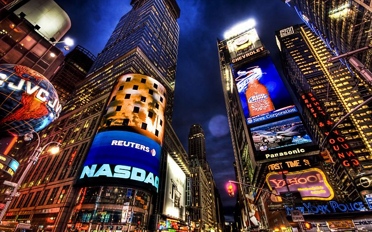 cityscapes, urban, buildings, New York City, Times Square, modern, cities - desktop wallpaper
