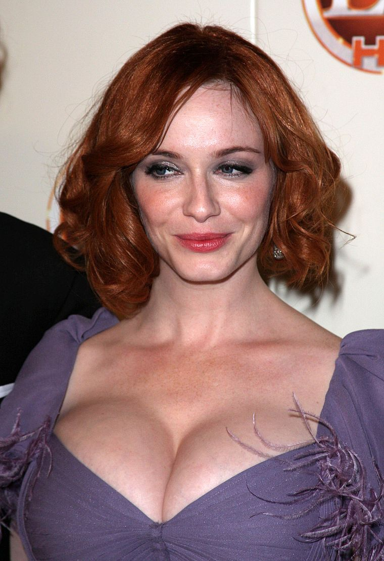 boobs, actress, redheads, cleavage, Christina Hendricks, Mad Men, big boobs - desktop wallpaper