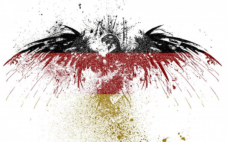 germany eagles white background german flag paint