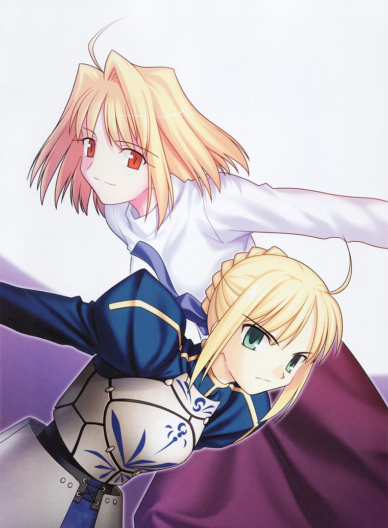 Tsukihime, Fate/Stay Night, Arcueid Brunestud, Type-Moon, Saber, Fate series - desktop wallpaper
