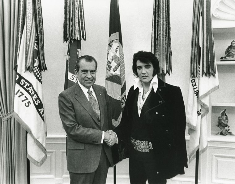 Elvis Presley, Richard Nixon - desktop wallpaper