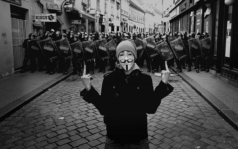 Anonymous Guy Fawkes V For Vendetta Middle Finger