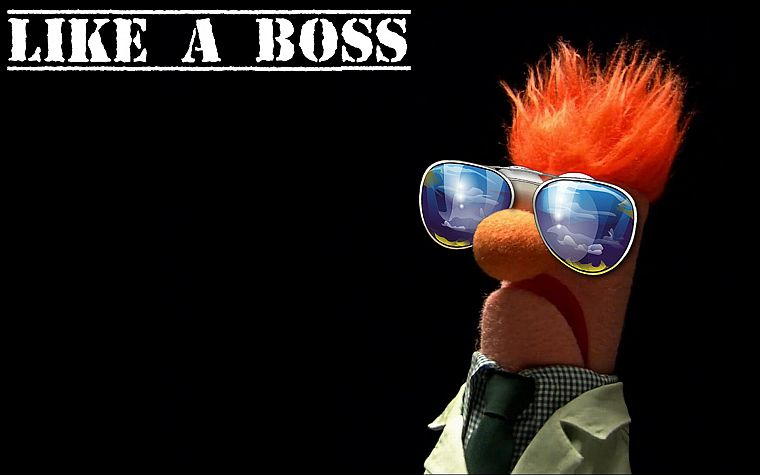 Beaker, The Muppet Show, like a boss - desktop wallpaper