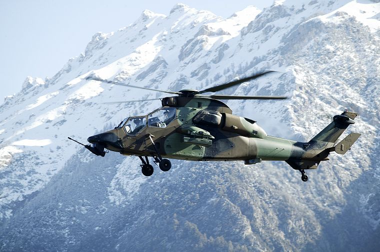 mountains, military, helicopters, vehicles, Tigre french, French army - desktop wallpaper