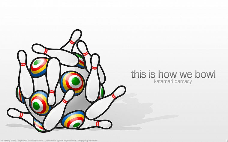 bowling, Katamari Damacy - desktop wallpaper