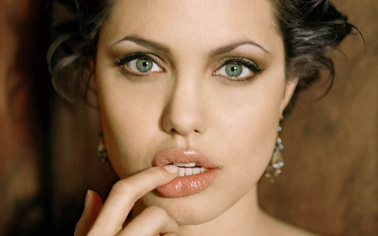 women, actress, Angelina Jolie, celebrity, green eyes, faces - desktop wallpaper