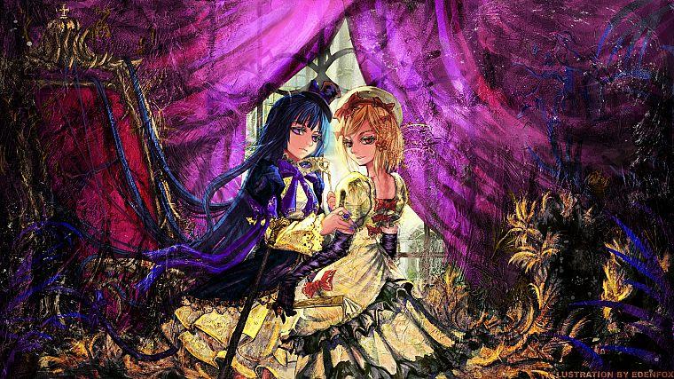 Women Witch Dress Purple Umineko No Naku Koro Ni Anime