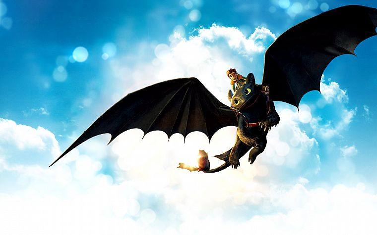 toothless, How to Train Your Dragon, Hiccup - desktop wallpaper