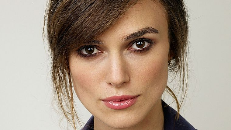 brunettes, women, actress, Keira Knightley, faces - desktop wallpaper