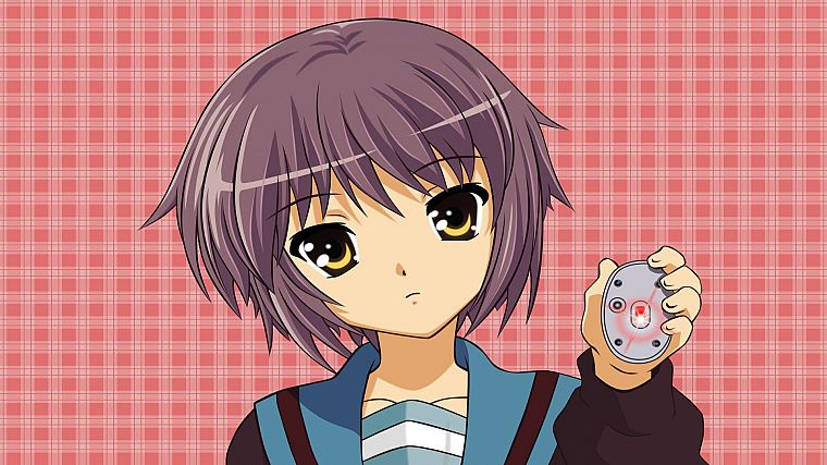 Nagato Yuki, The Melancholy of Haruhi Suzumiya, mice - desktop wallpaper