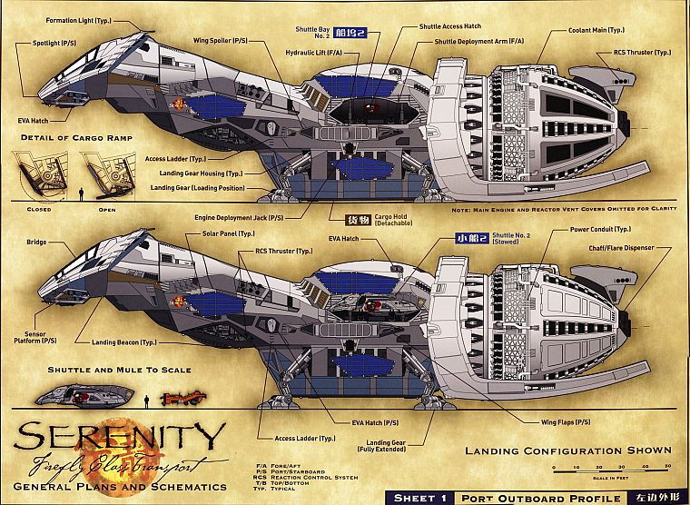 Serenity, Firefly, spaceships, schematic, vehicles, papyrus - desktop wallpaper