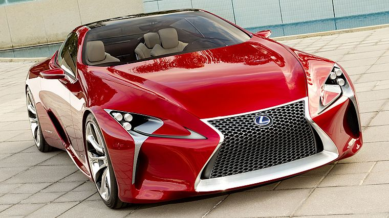 cars, Lexus, concept cars, Lexus LF-LC, front angle view - desktop wallpaper