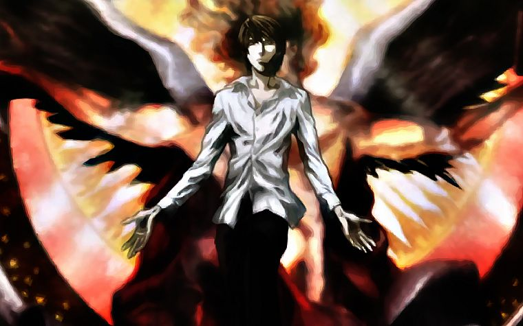 Death Note, angels, Yagami Light - desktop wallpaper