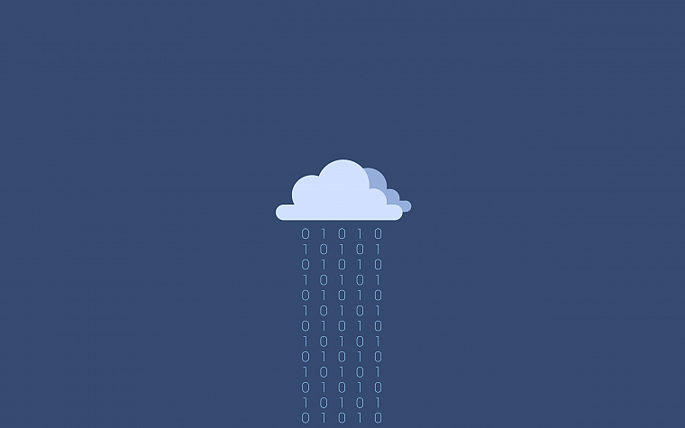 clouds, minimalistic, binary, simple background, blue background - desktop wallpaper