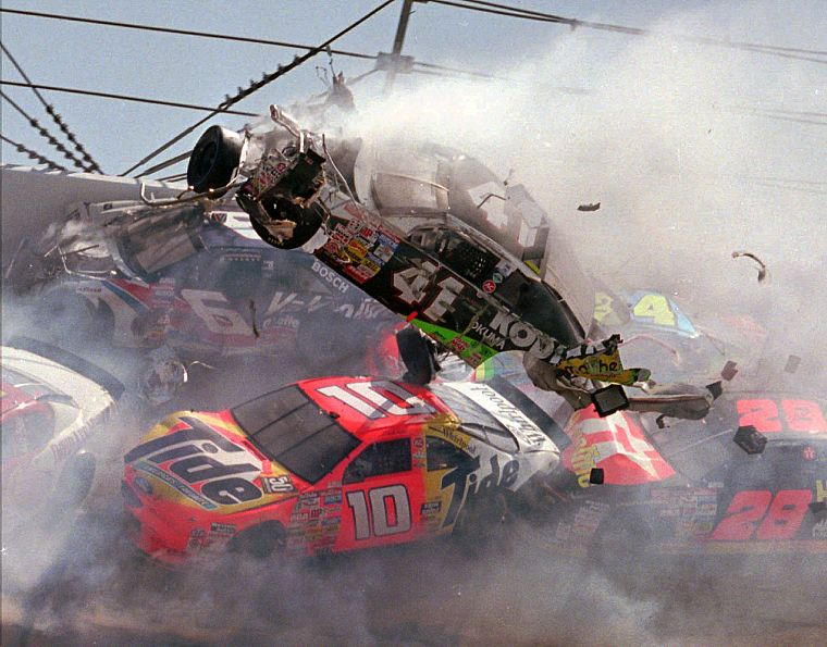 crash, Nascar - desktop wallpaper