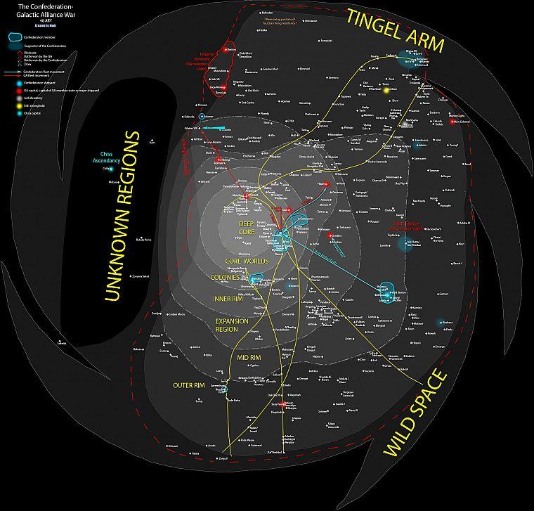 Star Wars, maps, infographics - Free Wallpaper
