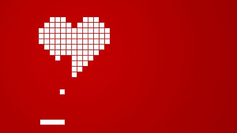 love, hearts, squares, simple background - desktop wallpaper