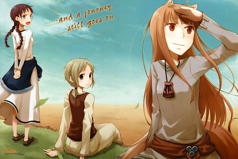 Spice and Wolf, animal ears, Holo The Wise Wolf, inumimi - desktop wallpaper
