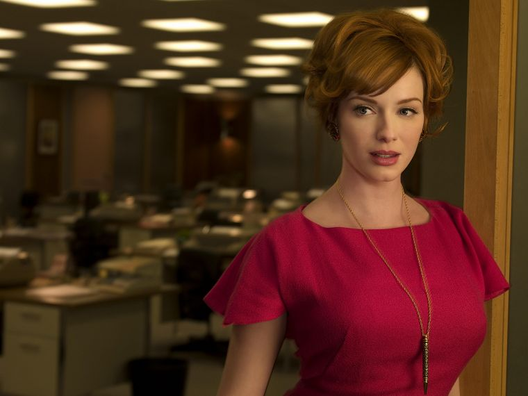 women, Christina Hendricks, Mad Men - desktop wallpaper