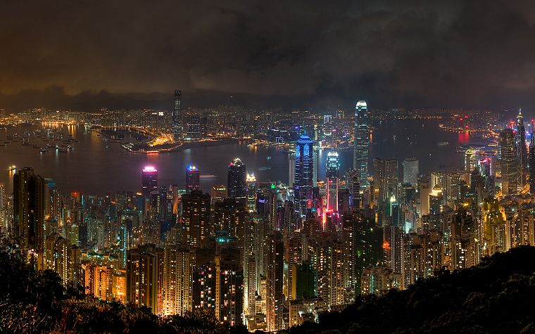 landscapes, cityscapes, buildings, Hong Kong, cities - desktop wallpaper