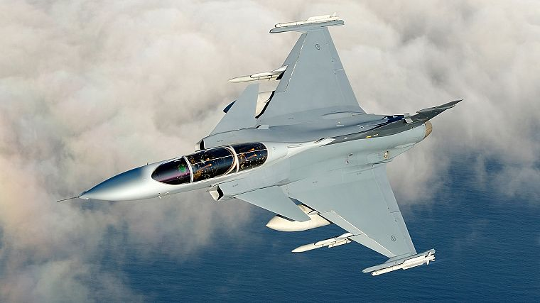aircraft, planes, Jas 39 Gripen, Swedish Air Force - desktop wallpaper