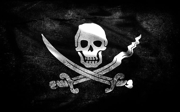 flags, skull and crossbones, Jolly Roger - desktop wallpaper