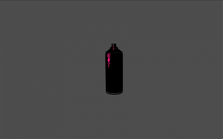 minimalistic, spray paint - desktop wallpaper