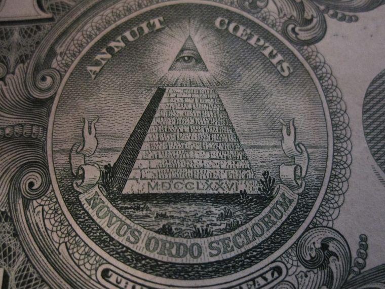 Masonic Symbol Pyramids Dollar Sign Free Wallpaper
